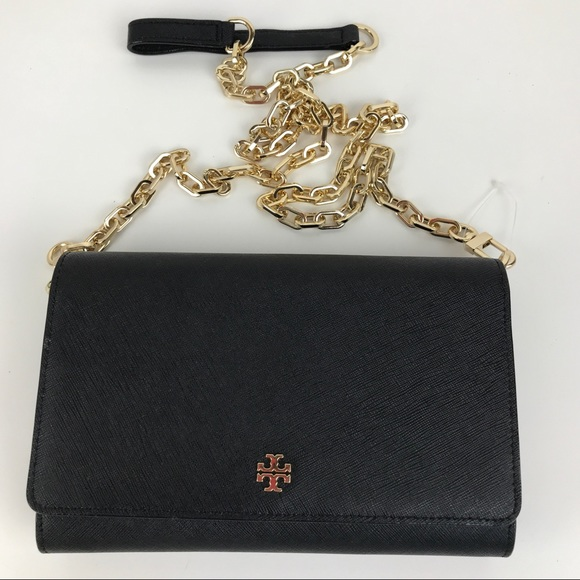 d164426d5707 Tory Burch Robinson Chain Leather Crossbody Wallet.  M 5b7efdcbd6716a44dba2137c